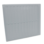 Rytons 9X9 Hit & Miss Ventilation Grille - White Plastic