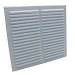 RYTONS 9X9 LOUVRE VENTILATION GRILLE WITH FLYSCREEN - WHITE