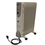 PREM-I-AIR OIL FILLED RADIATOR WITH ADJUSTABLE THERMOSTAT - 9 FIN - 2kW