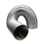 Semi-Rigid Aluminium Hose 102mm Dia, 3 Metres