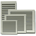 Non Vision Door Panel/Grille 550X200 Silver