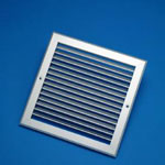 500X150mm Silver Single Deflection Grille With Damper