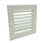 SINGLE DEFLECTION GRILLE - WHITE - 500X500MM