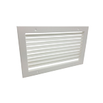 SINGLE DEFLECTION GRILLE - WHITE - 600X200MM