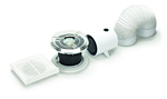 Domus Spotvent Axial In-Line Shower 100mm Timer With Duct Kit Fan & Led Light White