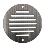 100mm Round Ventilation Grille Stainless Steel