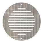 150MM ROUND VENTILATION GRILLE STAINLESS STEEL