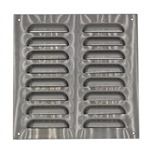 230MM x 230MM VENTILATION GRILLE STAINLESS STEEL