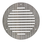 300MM ROUND VENTILATION GRILLE STAINLESS STEEL