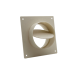 System 100 Straight Damper And Wall Plate