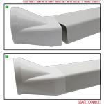 Kair Rectangular Flat Ducting 150mm x 70mm - 1 Metre Length Flat Channel Pipe