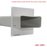 Kair Wall Plate 150mm x 70mm for Rectangular Ducting
