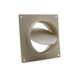 System 125 Round - Wall Plate With Damper