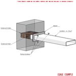 Kair Wall Plate 180mm x 90mm for Rectangular Ducting