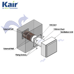 Kair Wall Plate 150mm - 6 inch for Round Ducting