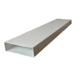KAIR SYSTEM 204 RECTANGULAR FLAT CHANNEL 204MM X 60MM DUCTING PIPE - 1 METRE LENGTH