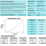 Kair Rectangular Flat Ducting 204mm x 60mm - 1 Metre Length Flat Channel Pipe