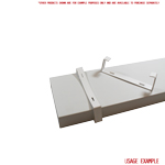 Kair Rectangular Ducting Retaining Clip 204mm x 60mm Support Bracket