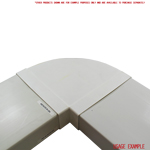 Kair 90 Degree Horizontal Elbow Bend 204mm x 60mm - 8 x 2 inch