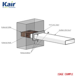 Kair Wall Plate 204mm x 60mm for Rectangular Ducting