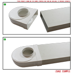 Kair Rotating Elbow Bend Adaptor 204mm x 60mm to 100mm - 4 inch Rectangular to Round 90 Degree Bend