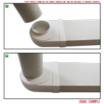 Kair Rotating Elbow Bend Adaptor 204mm x 60mm to 125mm - 5 inch Rectangular to Round 90 Degree Bend