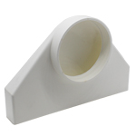 Kair Plenum Elbow Bend Adaptor 234mm x 29mm to 100mm - 4 inch Rectangular to Round 90 Degree Bend