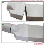 Kair Ducting Adaptor 204mm x 60mm to 100mm - 4 inch Rectangular to Round