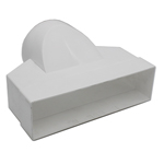 Kair Ducting Adaptor 204mm x 60mm to 100mm - 4 inch Rectangular to Round