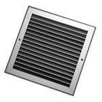 100X100mm Silver Single Deflection Grille