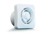 Domus Classic Compact Axial 100mm Timer Fan White