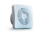 Domus Classic Compact Axial 150mm Timer Fan White