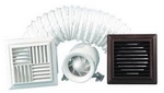 Domus Classic Compact Axial 100mm Timer With Ceiling Fixing Kit Fan