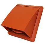 COWLED GRILL 110MM X 54MM RECTANGULAR SPIGOT - TERRACOTTA