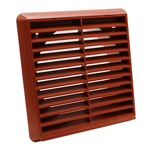 Kair Louvred Grille 150mm - 6 inch Terracotta External Wall Ducting Air Vent with Round Spigot