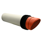 System 100 Terracotta Round Core Drill High Rise Ducting Ventilator