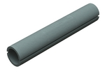 Domus Thermal Easipipe Rigid Duct 100mm 1M Insulation Silver Grey