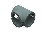 Domus Thermal Easipipe Rigid Duct 100mm Insulation Horizontal T Piece Grey