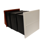 9X9 VENT SET WITH FLUSH LOUVRE - TERRACOTTA-LIGHT+DRAFT RED