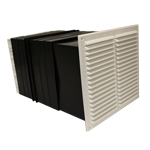 9X9 VENT SET WITH FLUSH LOUVRE -WHITE-LIGHT+DRAFT RED
