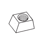 WEDGE NUT M6 PER 100