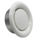 Kair Ceiling Extract Valve 125mm - 5 inch  White Coated Metal Vent