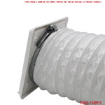 Kair Louvred Grille 125mm - 5 inch White External Wall Ducting Air Vent with Round Spigot