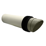 System 100 White Round Core Drill High Rise Ducting Ventilator (117mm Core Hole Requi...