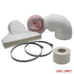 WARM AIR EXHAUST KIT 150MM DIAMETER 3 METRES