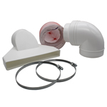 WARM AIR EXHAUST KIT 125MM DIAMETER 3 METRES
