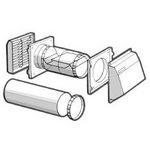 127mm Black Hole Ventilator C/W Fixed Anti-Draught Baffles -