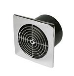MANROSE LP100SLVC LOW PROFILE BATHROOM FAN - CHROME