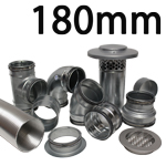 Metal Ducting - 180mm Round System