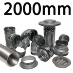 Metal Ducting - 2000mm Round System